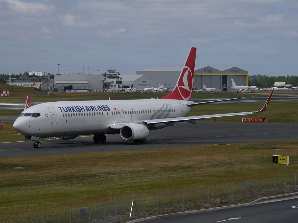 TC JYM Boeing 737 900ER İnceburun of Turkish Airlines at Birmingham Airport