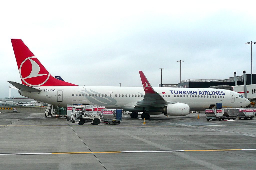 TC JYO Boeing 737 900ER Ilıca of Turkish Airlines at London Heathrow Airport