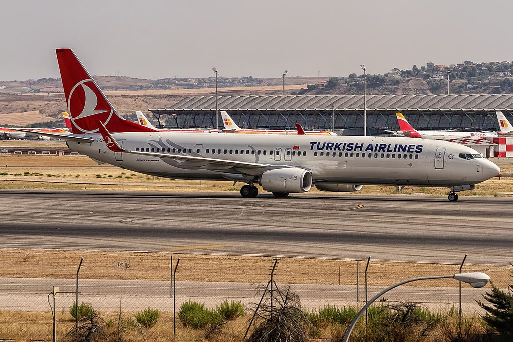 TC JYP Turkish Airlines Boeing 737 9F2ERWL Çatalca at Madrid Barajas Airport