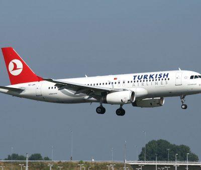 Turkish Airlines Airbus A320 232 TC JPI Doğubeyazıt landing at Amsterdam Schiphol