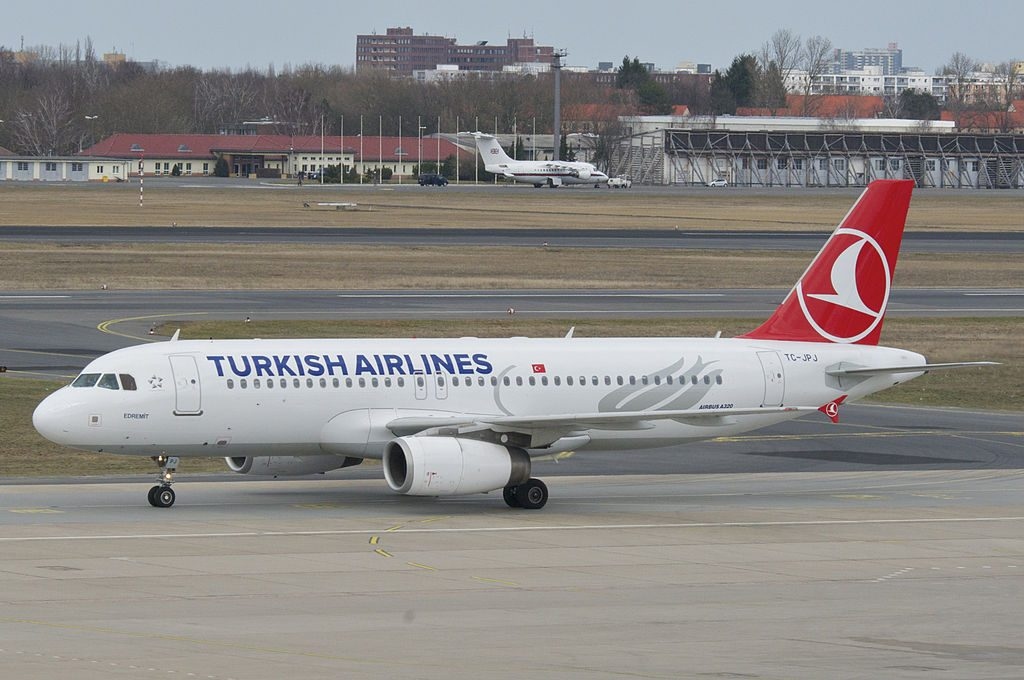 Turkish Airlines Airbus A320 232 TC JPJ Edremit at Berlin Tegel Airport TXL