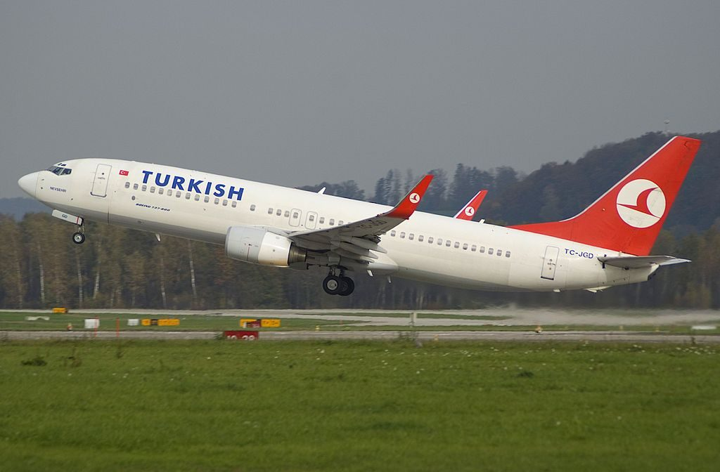 Turkish Airlines Boeing 737 800 TC JGD Nevşehir at Zurich International Airport ZRH