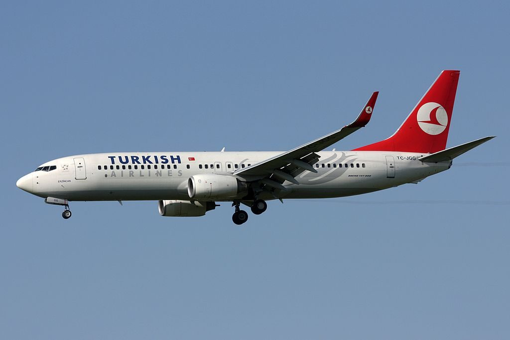 Turkish Airlines Boeing 737 8F2 TC JGG Erzincan at Zurich International Airport