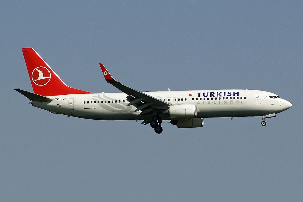 Turkish Airlines Boeing 737 8F2 TC JGR Usak at Frankfurt Airport