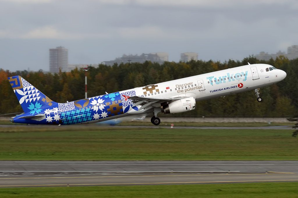 Turkish Airlines Discover the Potential Livery TC JRG Airbus A321 231 Finike at Pulkovo Airport