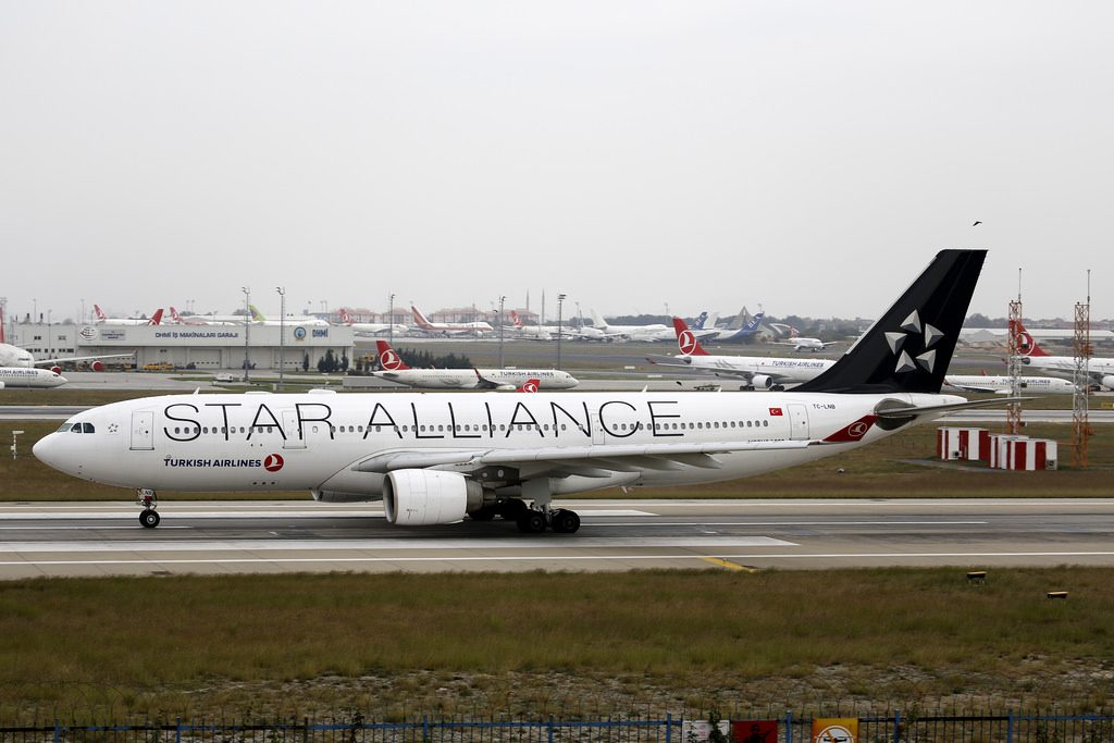 Turkish Airlines Star Alliance livery Airbus A330 223 TC JNB at John F. Kennedy International Airport