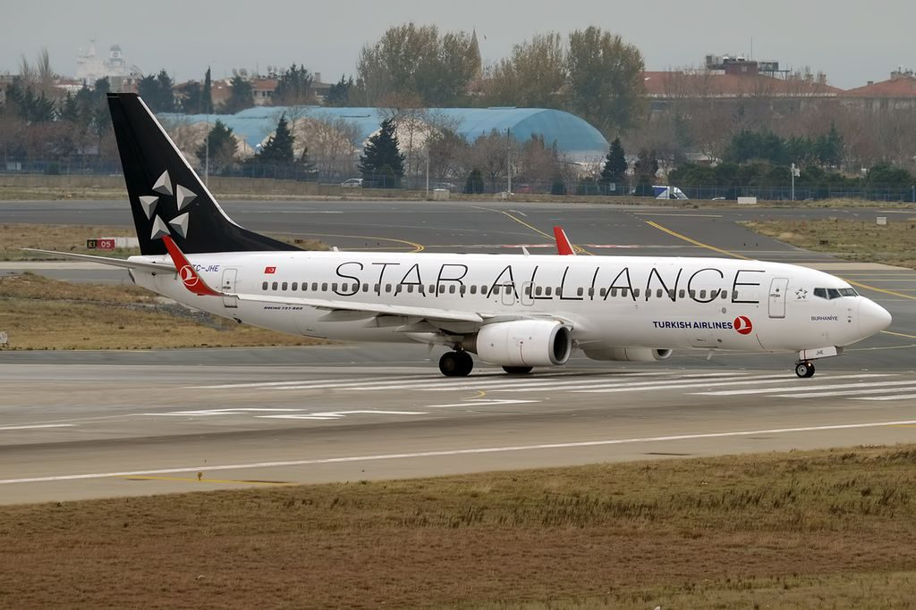 Turkish Airlines TC JHE Boeing 737 8F2WL Burhaniye Star Alliance Livery at Istanbul Atatürk Airport