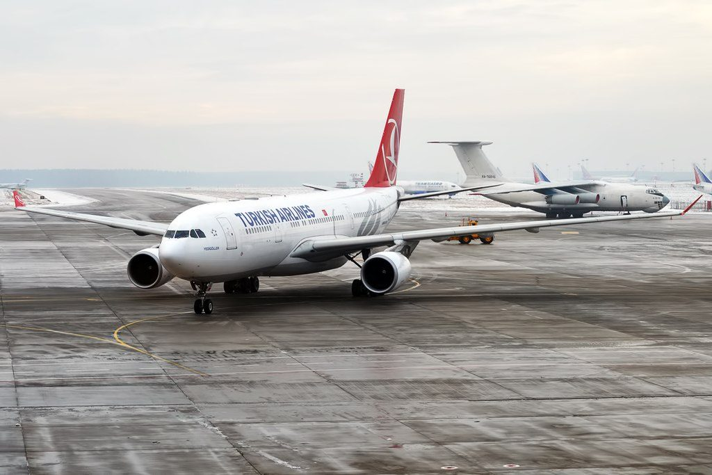 Turkish Airlines TC JIL Airbus A330 203 Yedigöller at Vnukovo International Airport