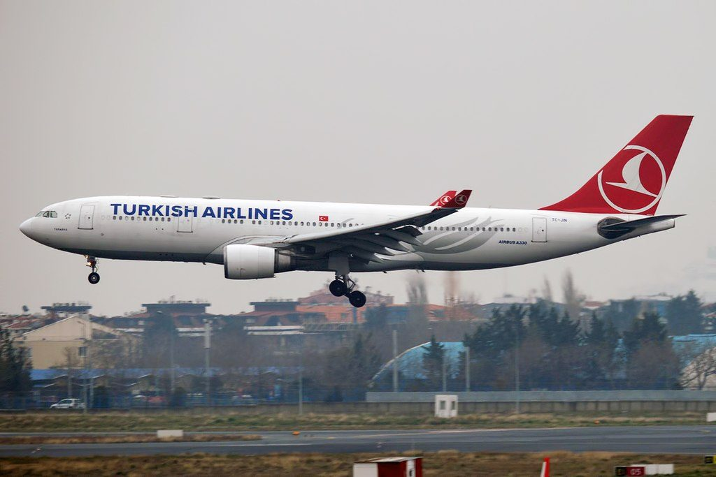 Turkish Airlines TC JIN Airbus A330 203 Tarabya landing at Istanbul Atatürk Airport