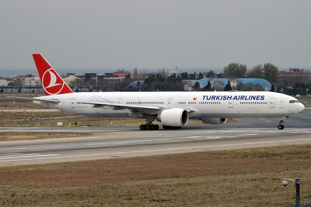 Turkish Airlines TC JJH Boeing 777 3F2ER Rumeli at Istanbul Atatürk Airport