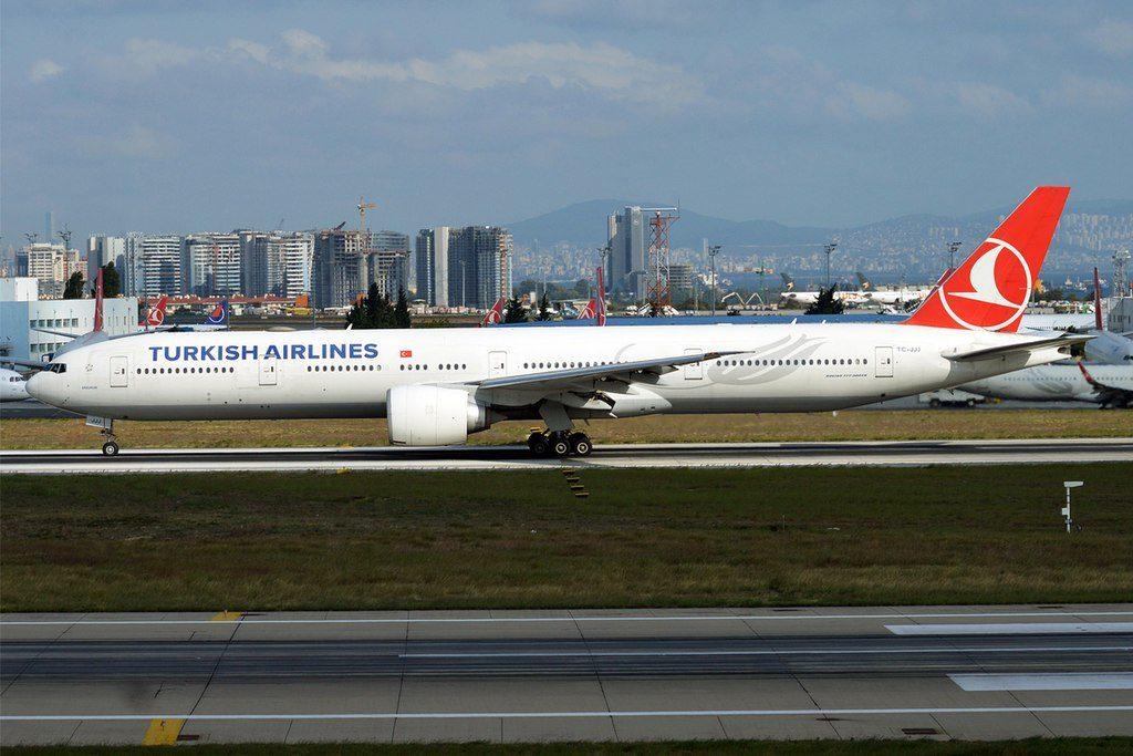 Turkish Airlines TC JJJ Boeing 777 3F2ER Erzurum at Istanbul Atatürk Airport