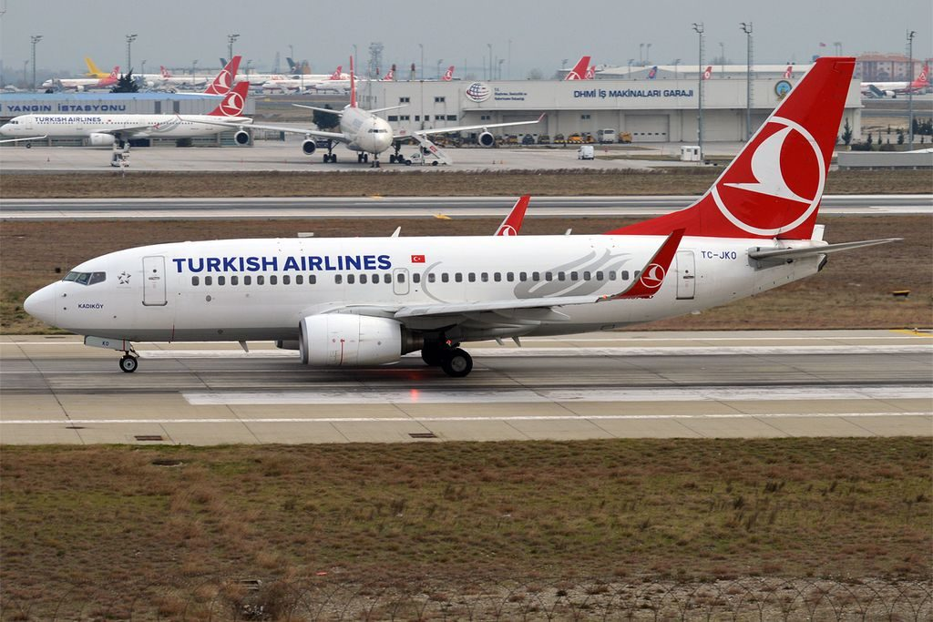 Turkish Airlines TC JKO Boeing 737 752 Kadıköy at Istanbul Atatürk Airport