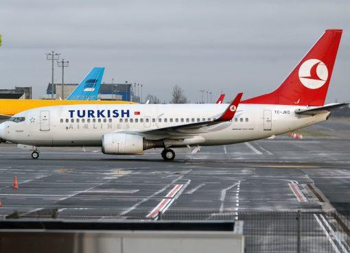 Turkish Airlines TC JKO Boeing 737 752 Kadıköy at Tallinn Airport