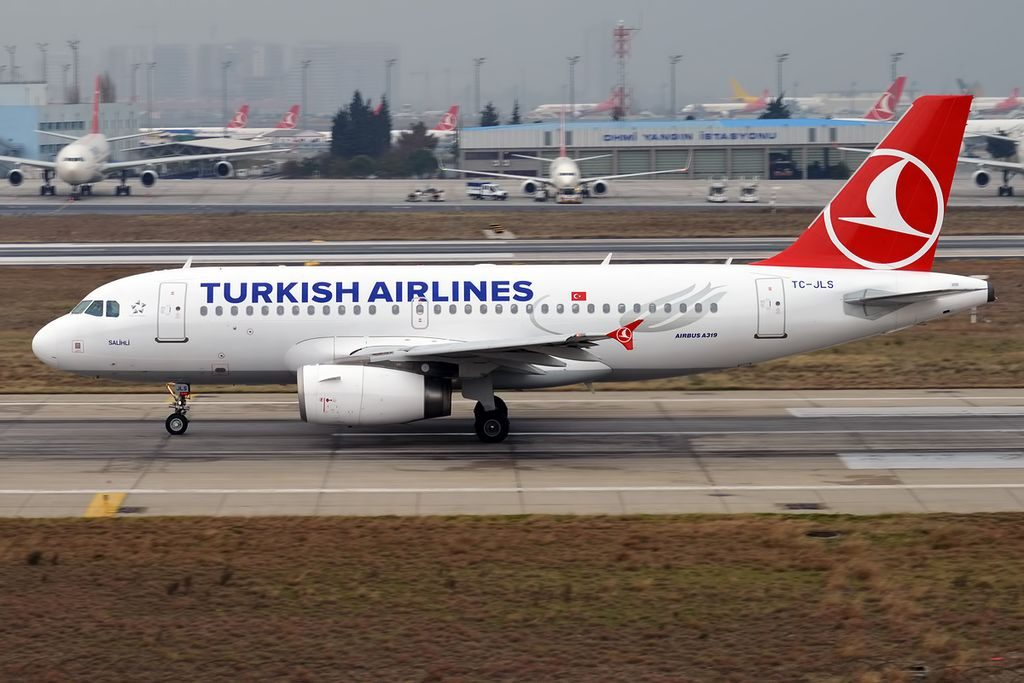Turkish Airlines TC JLS Airbus A319 132 Salihli at Istanbul Atatürk Airport
