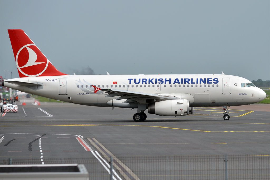Turkish Airlines TC JLY Airbus A319 132 Bergama at Tallinn Airport