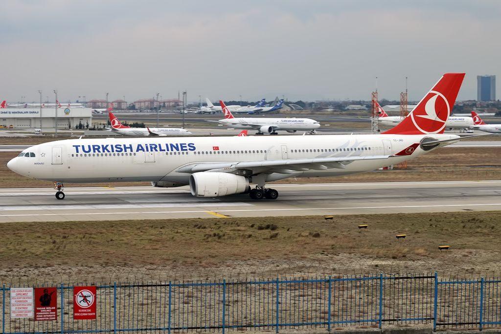 Turkish Airlines TC JNO Airbus A330 343 Boğaziçi at Istanbul Atatürk Airport