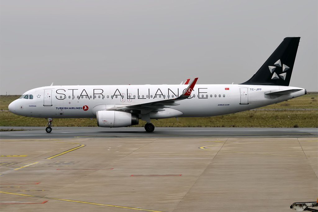 Turkish Airlines TC JPP Airbus A320 232wl Harran Star Alliance Livery at Paris Charles de Gaulle Airport