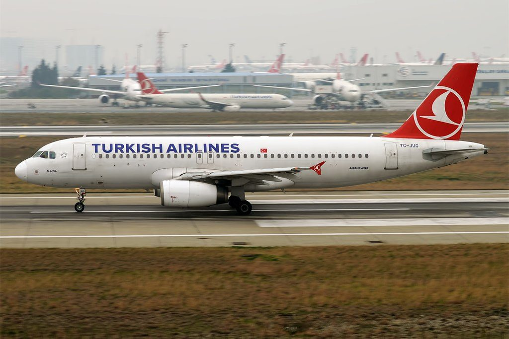 Turkish Airlines TC JUG Airbus A320 232 Alanya at Istanbul Atatürk Airport