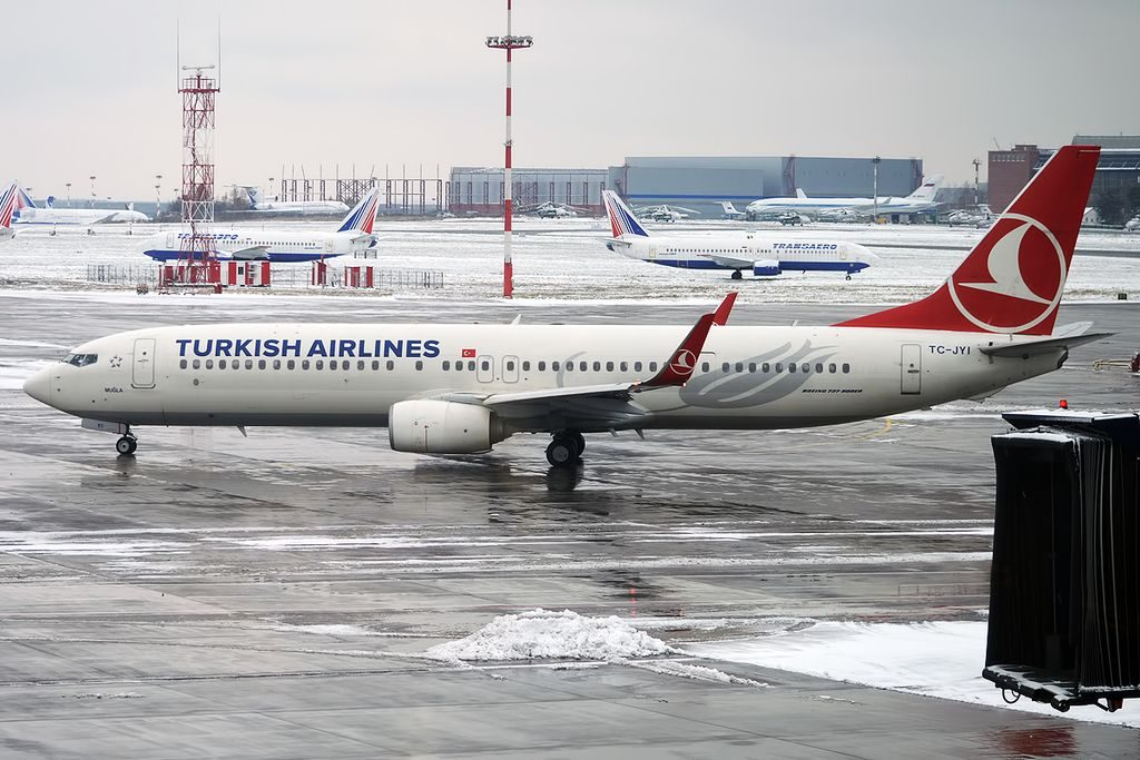 Turkish Airlines TC JYI Boeing 737 9F2ERWL Muğla at Vnukovo International Airport