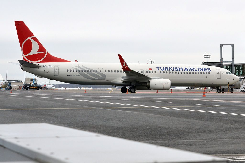Turkish Airlines TC JYL Boeing 737 9F2ER Çorlu at Tallinn Airport