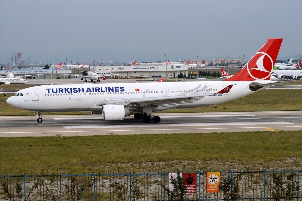 Turkish Airlines TC LNA Airbus A330 223 Çamlıca at Istanbul Atatürk Airport