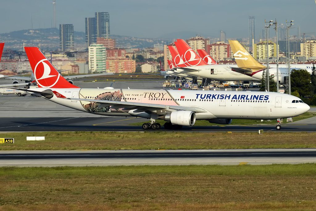 Turkish Airlines The Year of Troy Livery TC JOG Airbus A330 303 Truva Troy at Istanbul Atatürk Airport