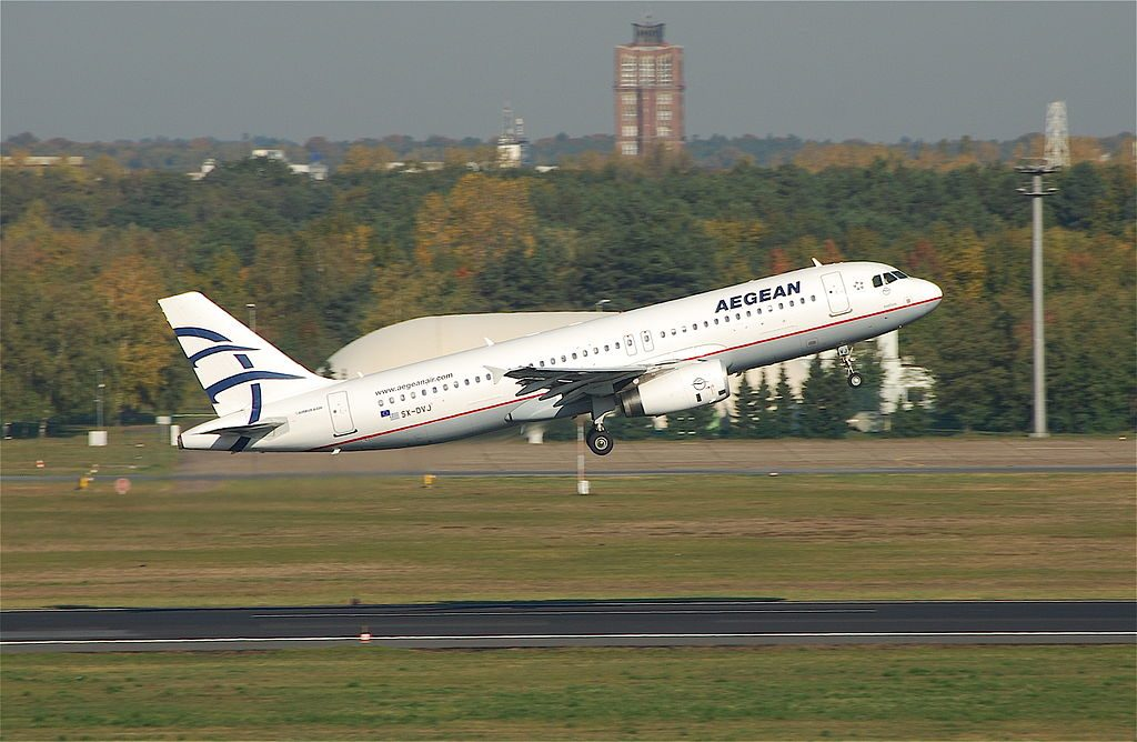 Aegean Airlines Airbus A320 232 SX DVJ Exelixis at Berlin Tegel Airport