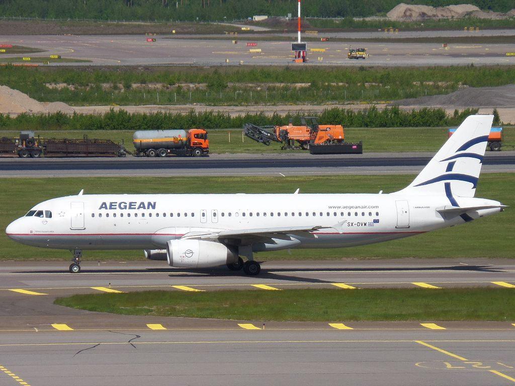 Aegean Airlines Airbus A320 232 SX DVW Nikos Kazantzakis at Helsinki Vantaa Airport
