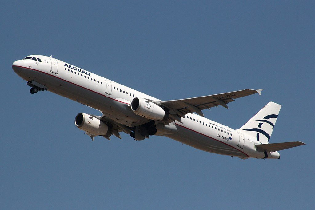 Aegean Airlines Airbus A321 231 SX DGQ at London Heathrow Airport
