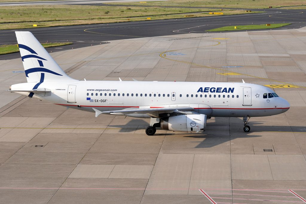 Aegean Airlines SX DGF Airbus A319 132 at Düsseldorf International Airport
