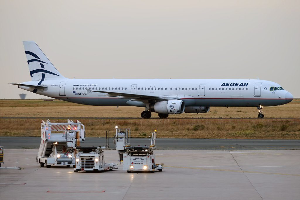 Aegean Airlines SX DGP Airbus A321 232 at Paris Charles de Gaulle Airport
