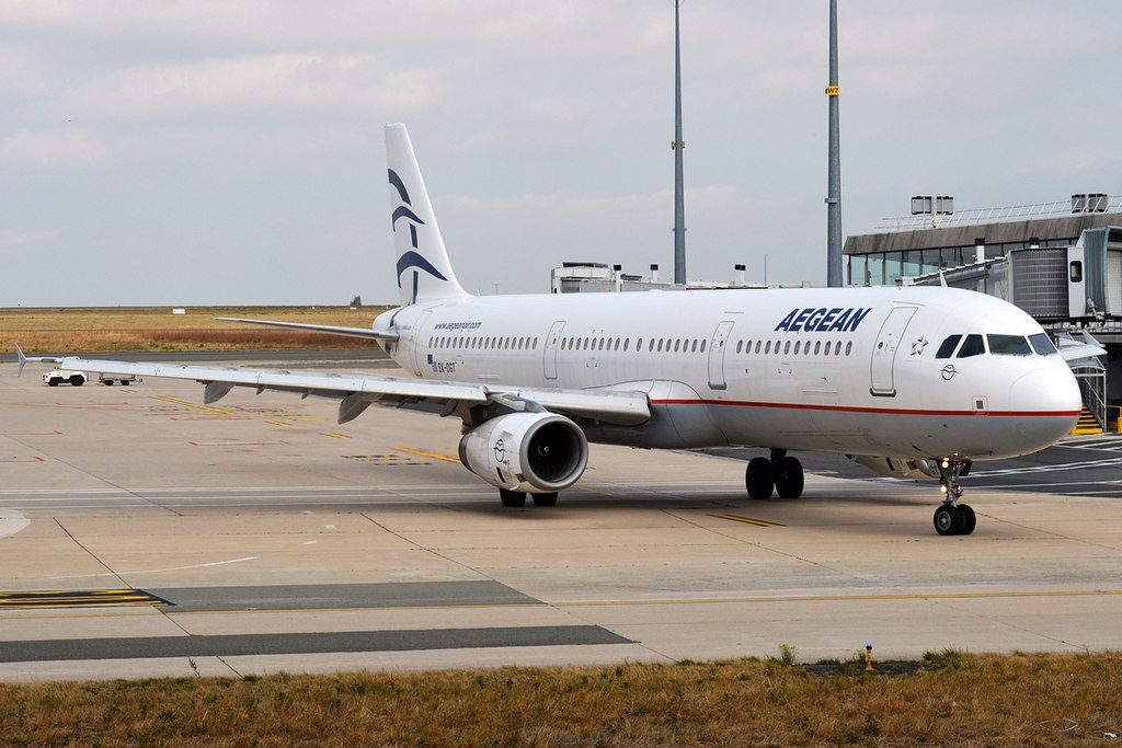 Aegean Airlines SX DGT Airbus A321 231 at Paris Charles de Gaulle Airport