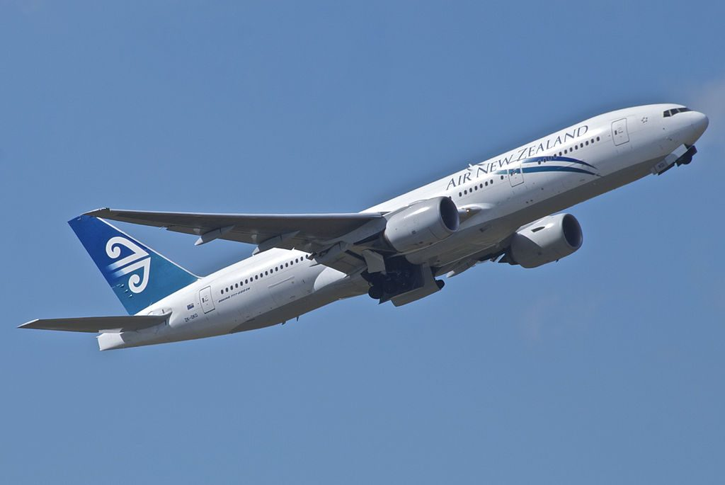Air New Zealand Boeing 777 200ER ZK OKD at Brisbane Airport