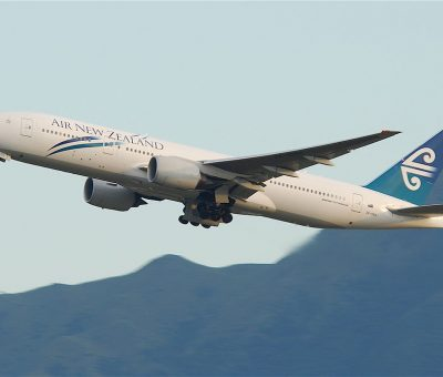 Air New Zealand Boeing 777 200ER ZK OKH at Hong Kong International Airport