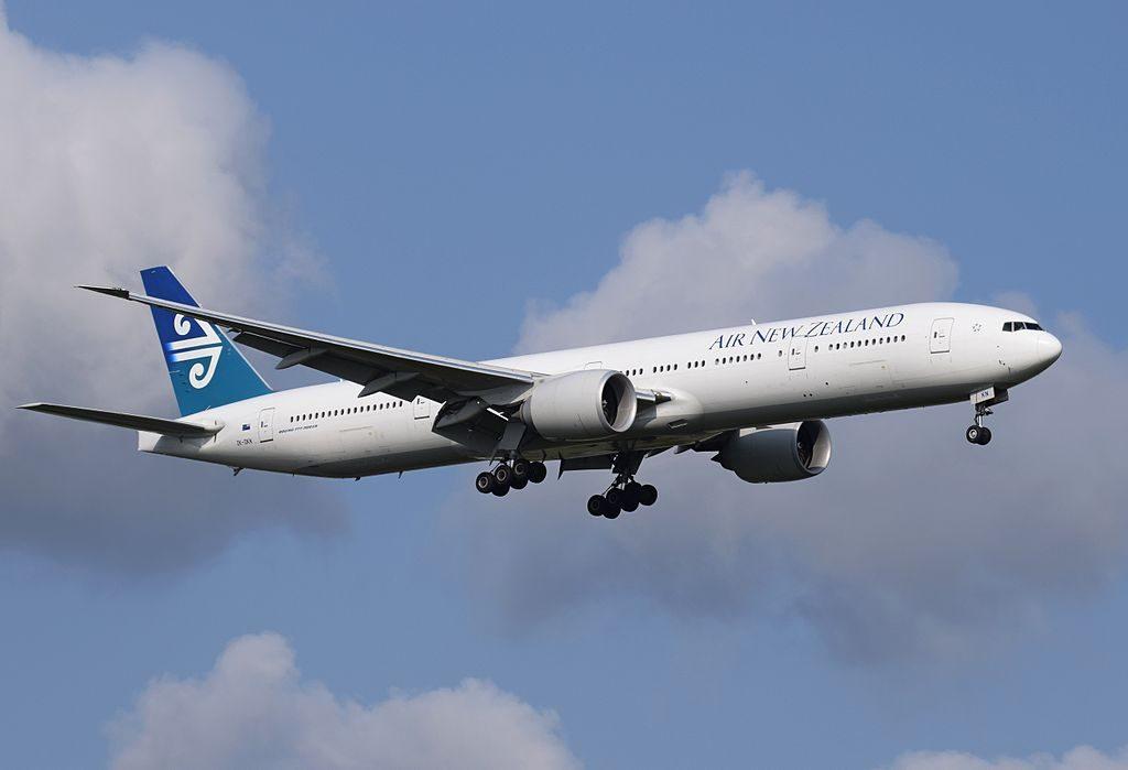 Air New Zealand Boeing 777 300ER ZK OKN arrives London Heathrow Airport