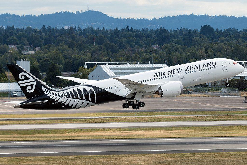 Air New Zealand Boeing 787 9 Dreamliner ZK NZI at Portland International Airport