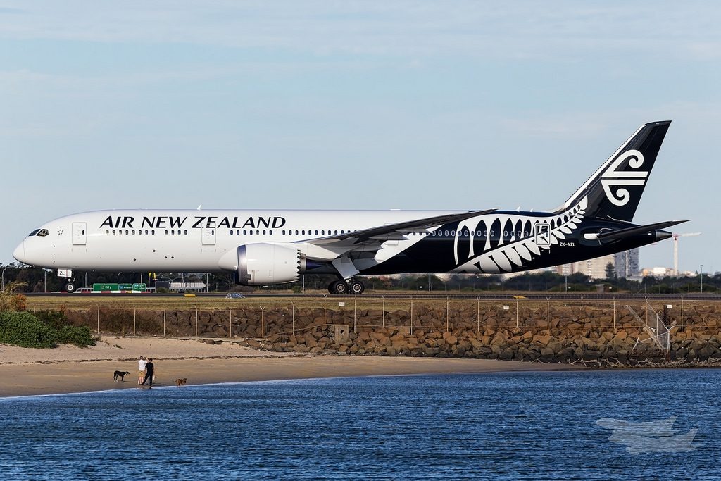 Air New Zealand Boeing 787 9 Dreamliner ZK NZL at Sydney Airport