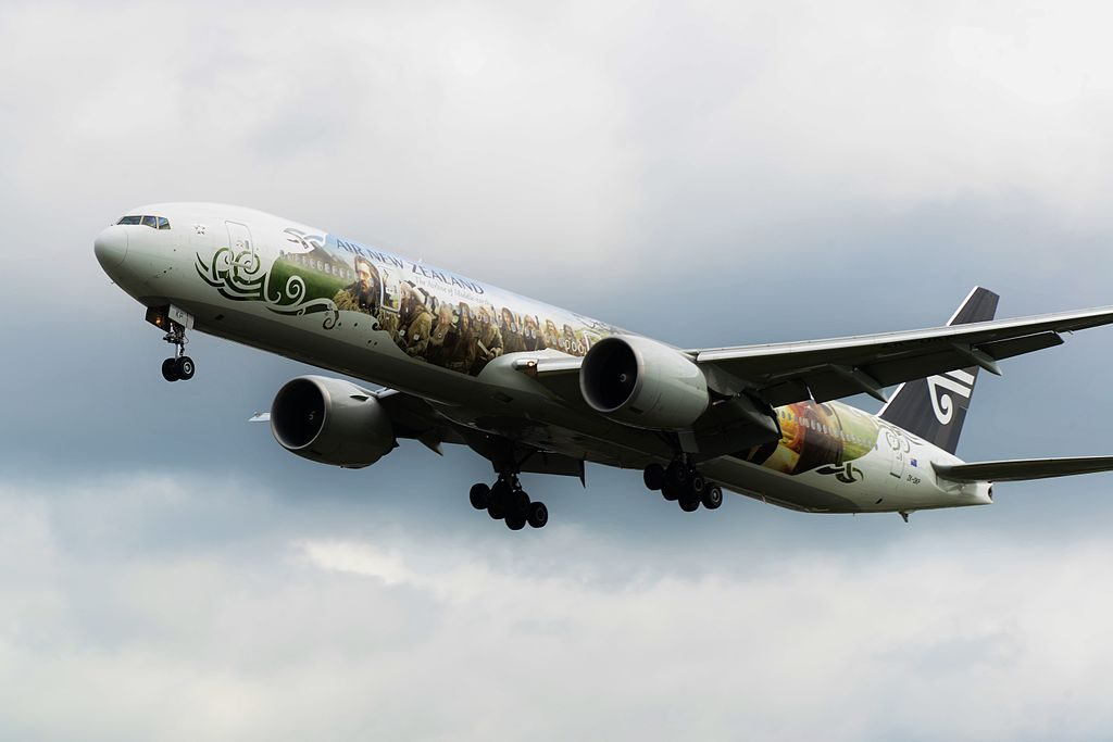 Air New Zealand The Hobbit ZK OKP Boeing 777 300ER at London Heathrow Airport
