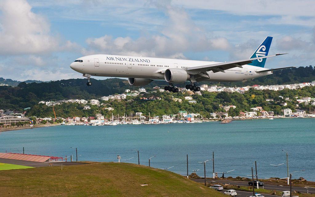 Air New Zealand ZK OKM Boeing 777 300ER at Wellington International Airport