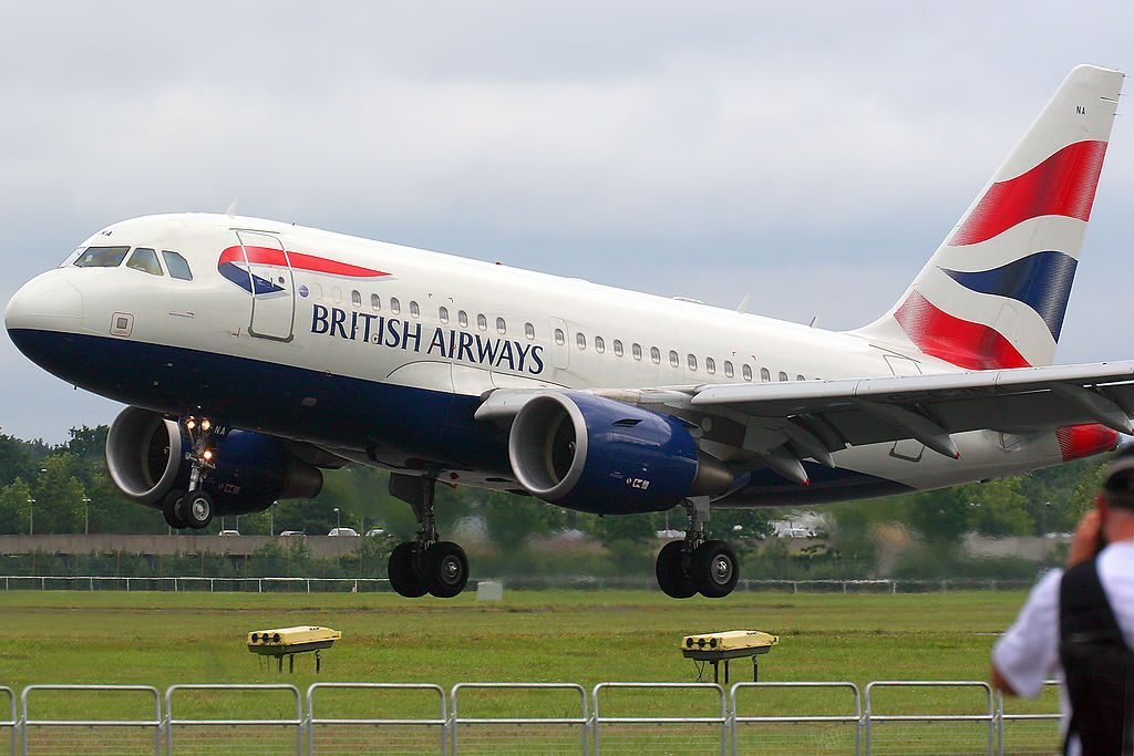 Airbus A318 112 G EUNA British Airways at 2012 Farnborough Airshow