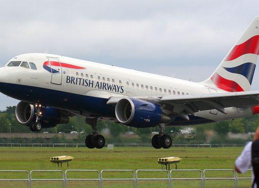 Airbus A318 112 G EUNA British Airways at 2012 Farnborough Airshow