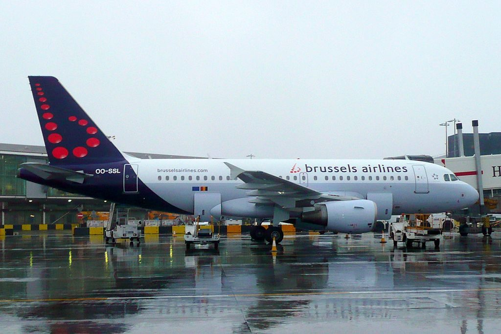 Airbus A319 111 OO SSL Brussels Airlines at London Heathrow Airport