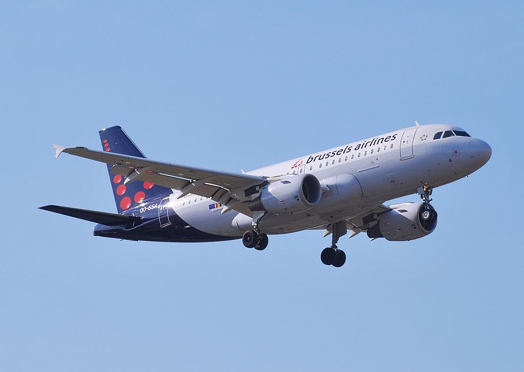 Airbus A319 111 of Brussels Airlines OO SSA at London Heathrow Airport