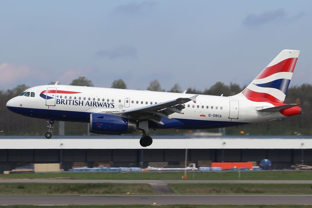 Airbus A319 131 British Airways G DBCA at Luxembourg Findel International Airport