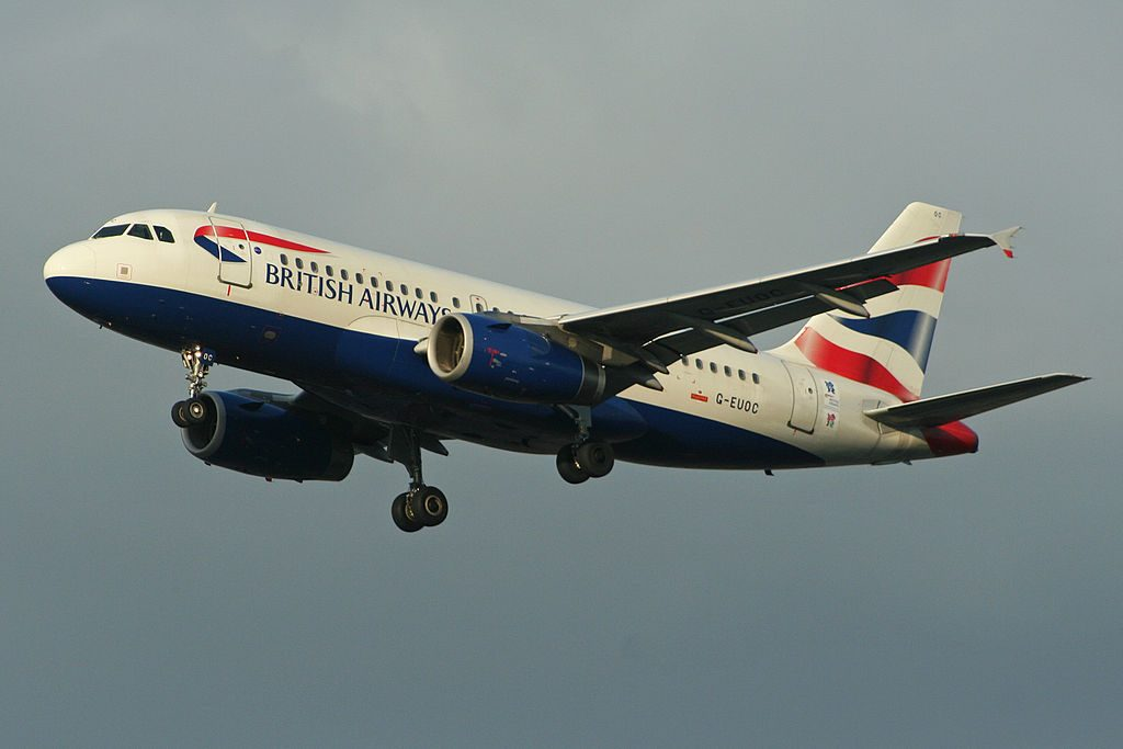 Airbus A319 131 G EUOC British Airways at London Heathrow Airport