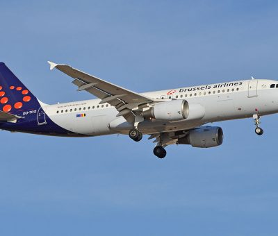 Airbus A320 214 OO TCQ Brussels Airlines at Tenerife South Airport