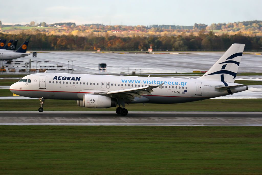 Airbus A320 232 Aegean Airlines SX DGI at Munich Airport