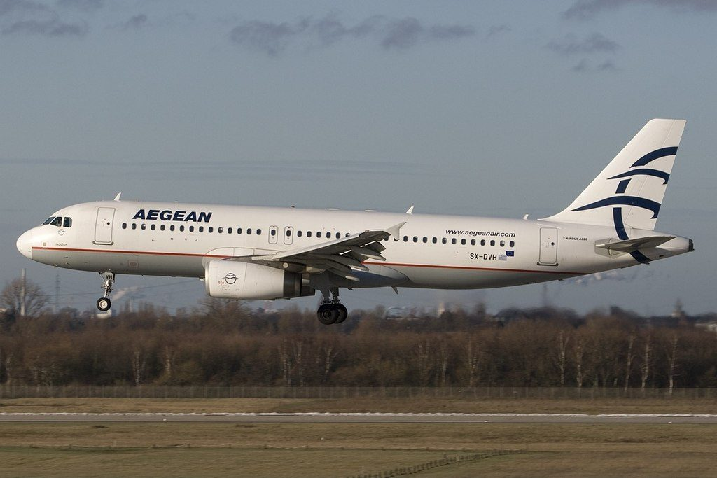 Airbus A320 232 Aegean Airlines SX DVH Nostos at Duesseldorf International