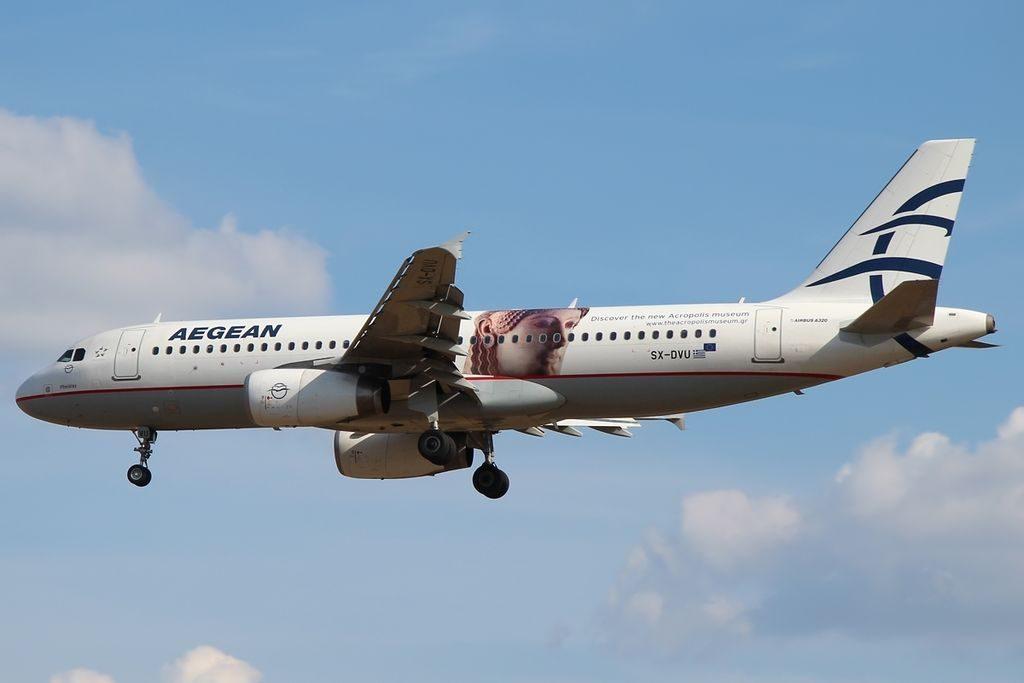 Airbus A320 232 Aegean Airlines SX DVU Acropolis Museum cs Pheidias at Frankfurt Airport