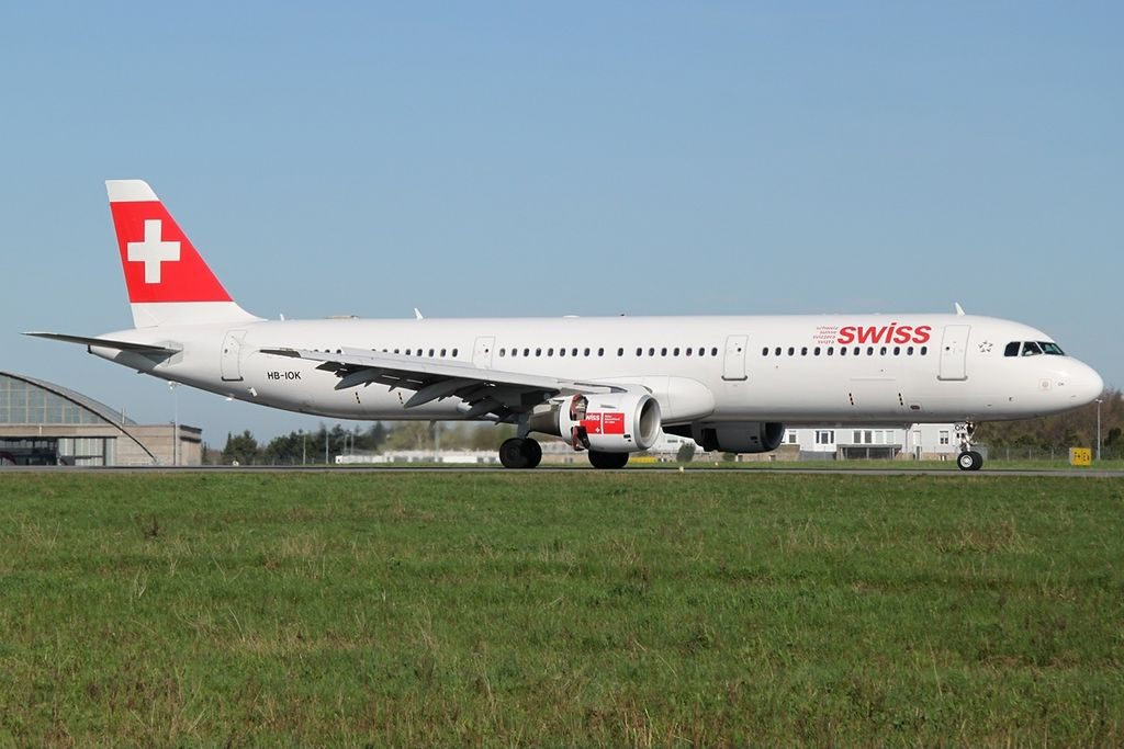 Airbus A321 111 Swiss HB IOK at Luxembourg Findel International Airport